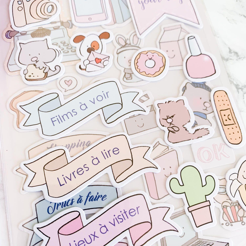"""Stickers cartonnés """"So Cute"""""""