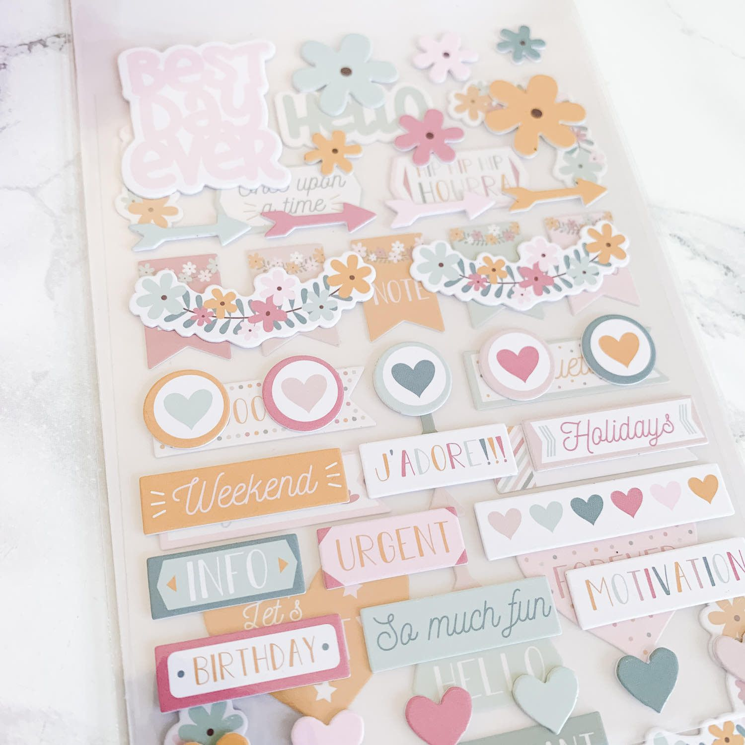 "Stickers cartonnés ""No Stress"" pour planner"