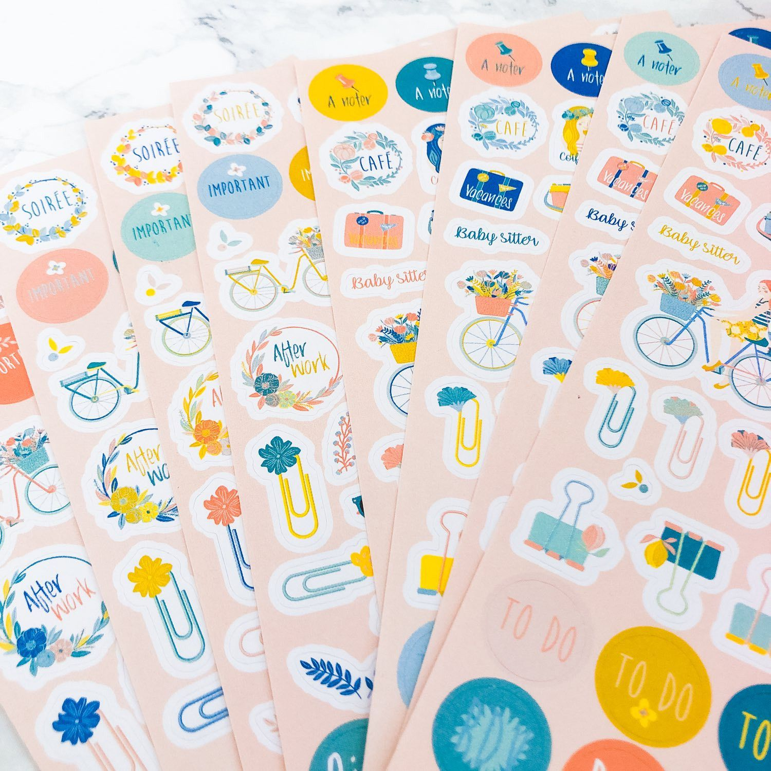 500 stickers féminins