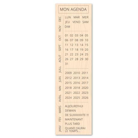 tampon bois calendrier bullet journal et agenda