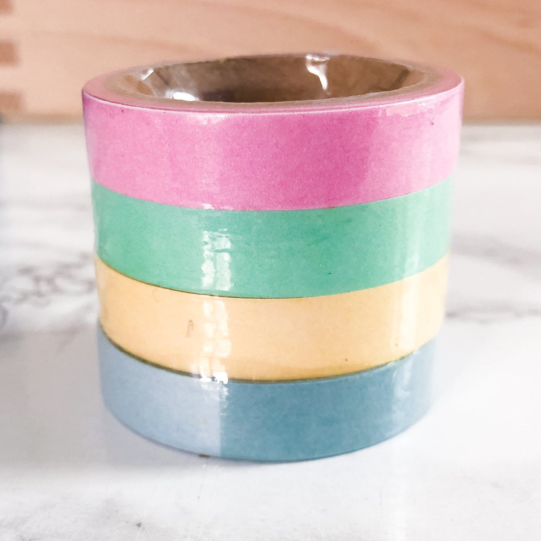 Washi Tape Aquarelle: couleurs pastel de base, 20 mètres