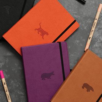 carnet pointillés dingbats wildlife cuir