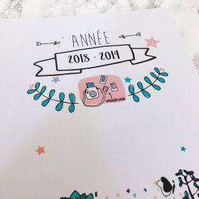 Agenda familial à spirale 2018 2019, couverture kraft