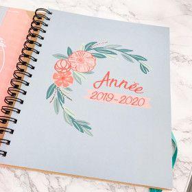 Agenda familial à spirale 2019 2020, couverture kraft