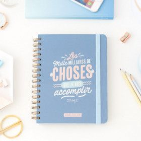 Agenda scolaire Mr Wonderful, planner semainier  2018/2019
