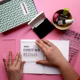 Bloc acrylique pour tampons transparents