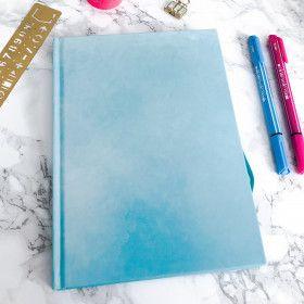 Carnet pointillés A5, couverture bleu pastel