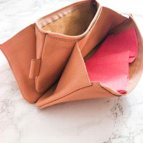 Trousse en cuir véritable, 3 compartiments