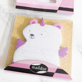 Notes repositionnables type postit, Ours Licorne (50 feuilles)