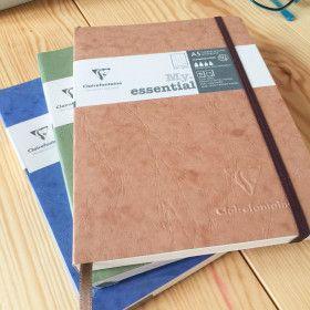 Clairefontaine Age Bag, Carnet Pointillés, format A5, grain cuir