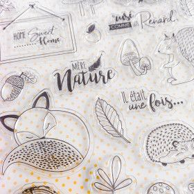 24 Clear stamps Ode à l'automne