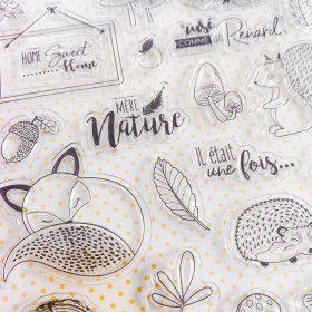 24 Clear stamps Ode à l'automne