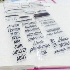 Clear stamps nom des mois en français, saisons et annotations