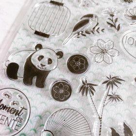 25 Tampons crystal / Clear Stamps Kawaii : Printemps à Kyoto