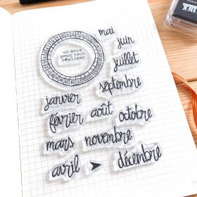 Clear Stamps spécial BUJO: Calendar Wheel et mois