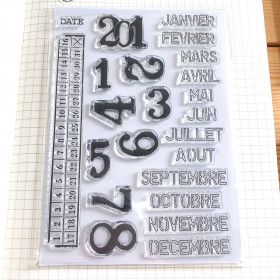 Clear Stamps Mois + Année