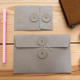 Enveloppe à fermeture japonaise TRAVELER´S Notebook - kraft froid