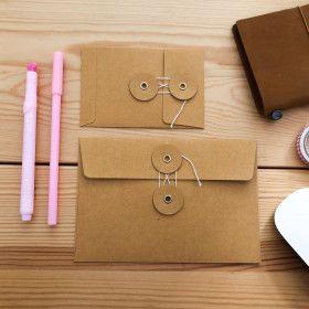 Enveloppe à fermeture japonaise TRAVELER´S Notebook - kraft chaud