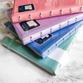 Filofax Notebooks Classic Pastels, carnet spirale A5 rechargeable