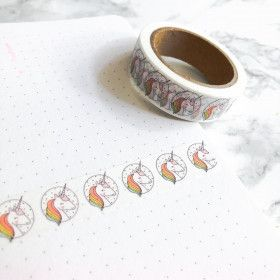 Washi Tape Licorne (Rouleau de 10m)