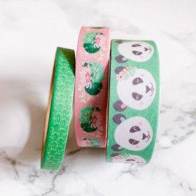 Washi Tape 15 mètres. Kawaii : Pandas, fleurs Japon ...