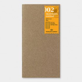 Recharge Traveler's Notebook - Midori 002 (petits carreaux)