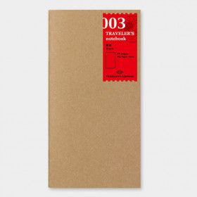 Recharge Traveler's Notebook - Midori 003 (pages blanches)