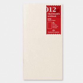 Recharge Traveler's Notebook - Midori 012 (papier dessin)