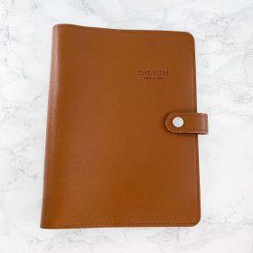 Planner A5, couverture souple en simili-cuir, qualité premium, MARRON