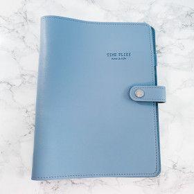 Planner A5, couverture souple en simili-cuir, qualité premium, BLEU