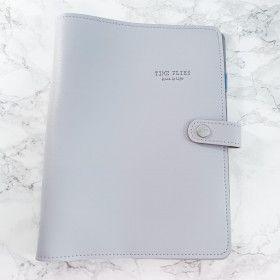 Planner A5, couverture souple en simili-cuir, qualité premium, GRIS