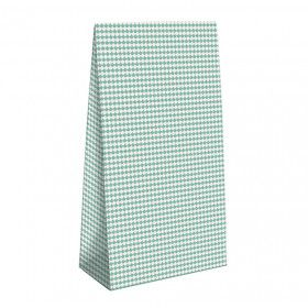 Pochette Cadeau aqua Chevrons ronds, 15x6x22.5cm