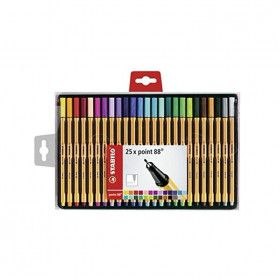 Pochette de 25 stylos feutres STABILO point 88