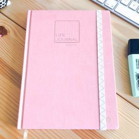 Carnet Pointillés Life Journal - Quo Vadis / format A5, rose