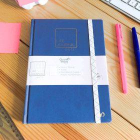Carnet Pointillés Life Journal - Quo Vadis / format A5, bleu gris