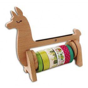 Rangement masking tape en bois, dévidoir lama