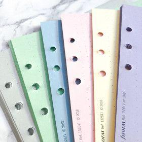 Recharge DOTS couleurs, pour Filofax et planner 6 trous. Tailles A5 ou Pocket.