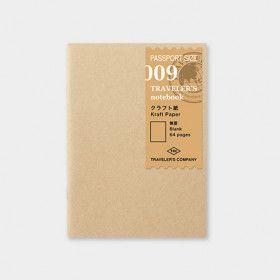 Recharge Traveler's Notebook - Passeport 009 (papier KRAFT)