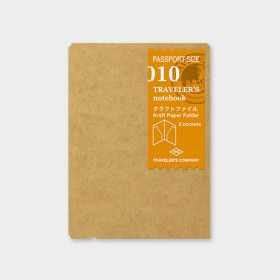 Recharge Traveler's Notebook - Passeport 010 (papier KRAFT)