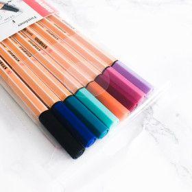 Pochette de 8 stylos feutres STABILO point 88 - coloris bright pastel