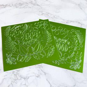 Stickers peel off vert métallisé végétal (green foil)