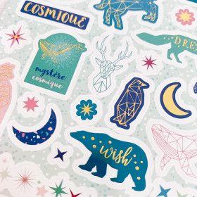 98 Stickers Constellations et étoiles merveilleuses