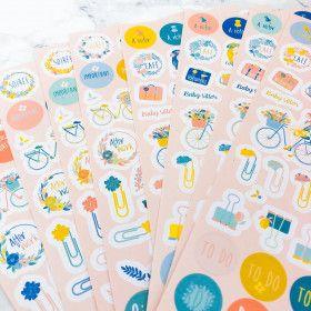 500 stickers Ohlala pour agrémenter Planner et BUJO