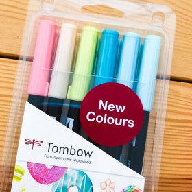 6 Feutres Tombow ABT Dual Brush - Couleurs Candy