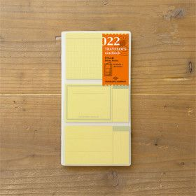 Recharge Traveler's Notebook - Midori 022 (Sticky Notes)