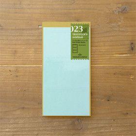 Recharge Traveler's Notebook - Midori 023 (18 Stickers Carte de visite)