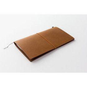 Carnet Traveler's Notebook - Midori en cuir CAMEL