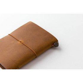 Carnet TRAVELER´S Notebook en cuir - taille passeport CAMEL