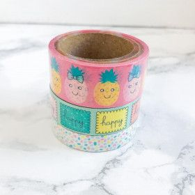 Washi Tape 15 mètres. Happy Life