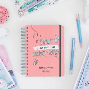 Agenda Sketch Mr Wonderful, journalier façon BUJO tout fait, pour 2018/2019